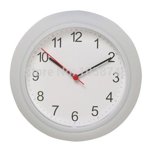 1 piece 10 inch simple plastic wall clock.(China (Mainland))