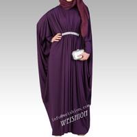 STOCK Retail women dubai abaya  2014 new style   Long sleeves dubai kaftan dresses / WS249