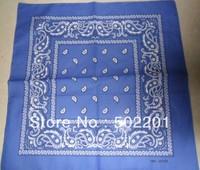 "Free Shipping Wholesale 21""  Cotton Paisley Bandana BLUE IN HOT SALE"