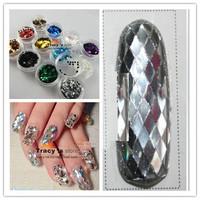 12Colors 4X2mm rhombus Paillette 3D Nail Art lozenge Shapes Glitter Decoration Slice Spangles Set Dropshipping [Retail]