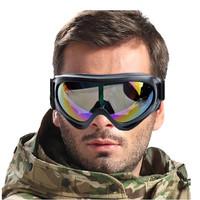 WOLFBIKE UV Protection Winter Sports Ski Snowboard Glasses Motorcross Cycle Goggle Glasses Eyewear Colourful Lens Black Frame