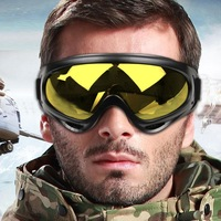 WOLFBIKE New Paintball Sport UV400 Protection For Hunting Airsoft Skiing Glasses Snow  Snowboarding Goggles Yellow Lenses