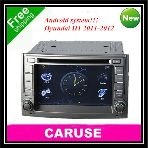 Free shipping!!! 4gb map 6.2 inch for hyundai H1 2011-2012 Android 4.0 Memory 1GB DDR3 dvd gps with free gps map and wifi(China (Mainland))