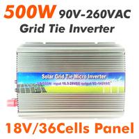500W Grid Tie Inverter 18VDC to 90-260VAC MPPT function,Solar Power inverter,Pure sine wave inverter
