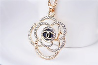 Exempt postage  Factory price sales retro CC double C necklace sweater chain necklace small fragrant