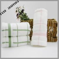 [TOWEL] 35*75cm 80g 2pcs/lot Plaid Luxury Home Towel Bamboo Terry Face Towel Bathroom Set Towels Novelty Households Toalha