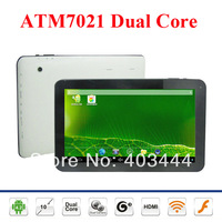 "10"" Tablet PC 1024*600 Pixels Actions ATM7021 Dual Core Android 4.2  512MB RAM 8GB ROM WiFi HDMI Dual Cameras OTG Free Shipping"