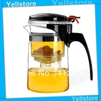 Free Shipping 500ml Elegant Teapot Boron Silicon Glass Coffee & Tea Set Heat-Resitant Glass Tea Pot New