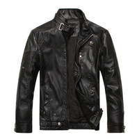 Free shipping High Quality Men's Fashion Vintage  Leather Jacket Color Black Khaki Coffee