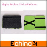 20Pcs/lot Hot Sale Magic Creative Money Leather Wallet Credit Card Holder Magic Wallet Free Shipping