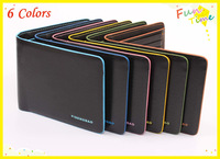 New  brand fashion cute wallet man waterproof billfold colorful leather wallet+ purse  for man  free shipping