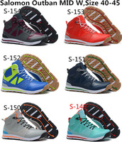 2014 New Arrived Salomon Outban MID W High Tops Winter Men's Running Shoes And Men Athletic Shoes Free Shipping Size 40 to 45