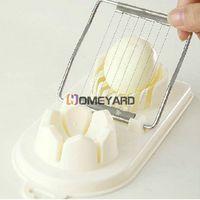 Practical 2 In 1 Multifunction Flower Pattern Edge Cut Kitchen Cutter Egg Slicer Sectioner #50183