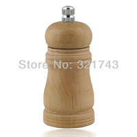 "Lot of Classical Wooden Pepper Spice Salt Mill Grinder Muller 4"", Color: Wood"