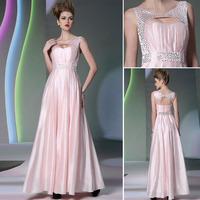 2015 new arrival Free shipping DORISQUEEN floor length fashion elegant 30922 open back sexy pink women evening dress long dress