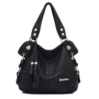 2014 fashion women's handbag cowhide handbag Genuine leather messenger bags casual large bag shoulder bags totes 5 colors