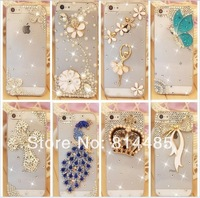 1PC free ship Rhinestone Cover For  Iphone 4 4s Case New Arrival Crystal Diamond Hard Back Skin Protective Shell