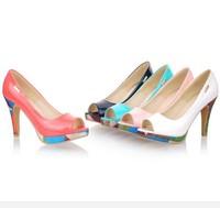 DropShip Hot Women's Sexy High Heels Peep Toe High Heels Pumps Wedding Sandals Shoes