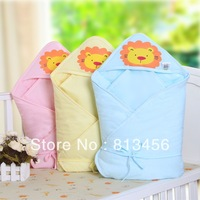 cartoon Lions baby's Receiving Blankets 2013 new autumn and winter newborn baby blankets thick coating