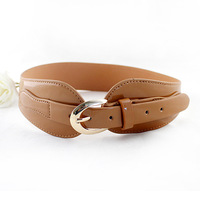 2014 New Fashion PU Leather Pin Buckle Wide Belt For Women