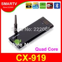 2G RAM CX-919 CX919 Quad Core Mini PC Android 4.2.2 TV Box External Wifi Antenna  RK3188 Bluetooth Smart TV Receiver Black CX919