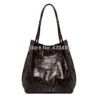 Fashion Sequined Design 2014 Genuine Leather Women Shoulder Bag Brand Famous Handbags Big Women Messenger Bag Hobo Bag
