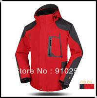 Man's 2in1  Fleece softshell Lining Skiing 2-Layer Winter Outdoor snowboard Waterproof Windproof outerwear coats Jackets suit