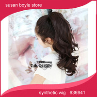 hot sellPear roll-style ponytail tied fake braids of hair foot high temperature matte silk free shipping