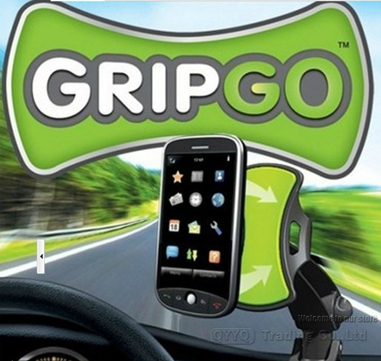 Gripgo mobile phone holder as seen on TV Grip go car phone mount hand free holder Amercia standard quaity(China (Mainland))