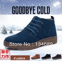 Mens sapato Fashion nubuck genuine leather plush platform winter Sneakers shoes for men new 2013 brand shoe wholesale chaussures