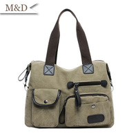 2014 Women's Canvas Handbag Quality Shoulder bag Casual Messenger Bag All-match Big Canvas Bag Retail And Wholesale