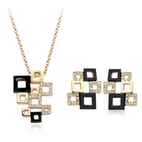 2014 New Sale Real Italina Jewelry sets for women Genuine Austria Crystal  18K Gold plated Fashion Jewelry Set  #RG20432