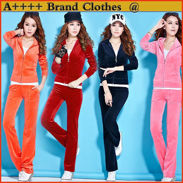 2014 New arrival Women Sport suit Casual clothes 2pcs set Large Sizes top jacket +Pants clothing set More colors sweater set(China (Mainland))