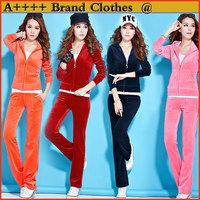 2014 New arrival Women Sport suit women clothes 2pcs set Large Sizes top jacket +Pants clothing set More colors Casual Hoodie