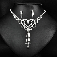 Min Order $5 (Mix Order) Fashion Rhinestone Bride Necklace Earring Set Crystal Bride Wedding jewelry sets  6464