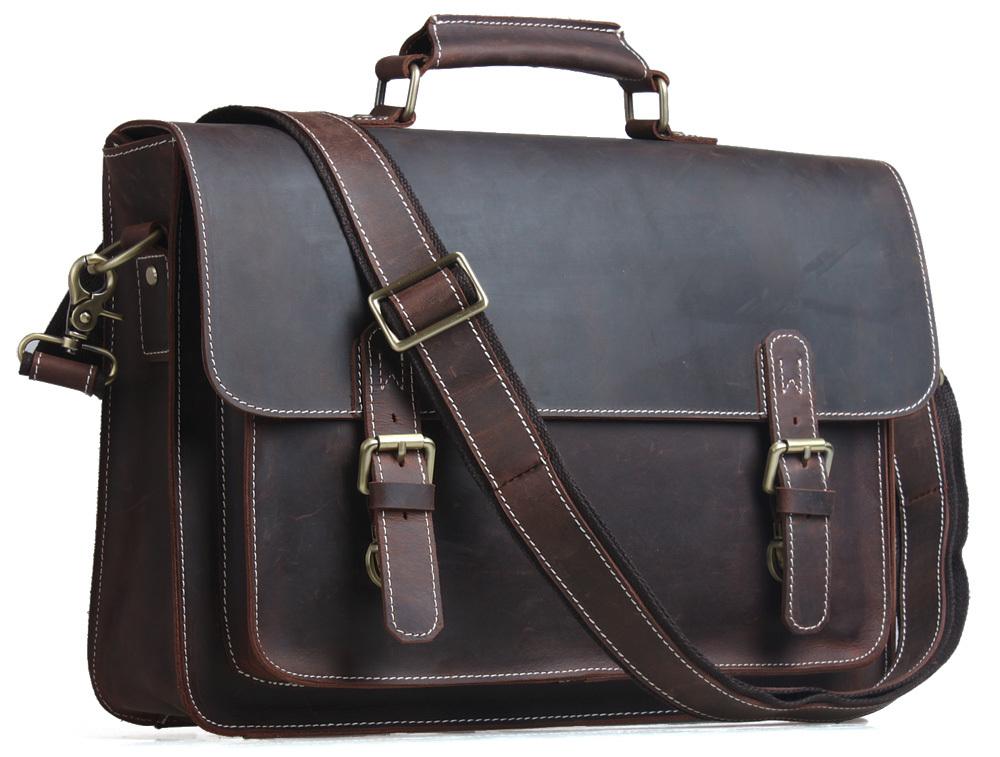 TIDING Briefcase Genuine Leather Handbag Top Quality Bag For Men Expedited Shipping(China (Mainland))