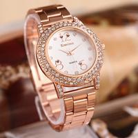 new 2014 women fashion diamond wristwatch rhinestone steel acrylic band watch women dress watch Valentine's gifts.free shipping