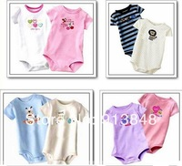 Free Shipping,5pcs/lot cartoon Baby Boy&Girl's Short Sleeve Rompers/Baby Bodysuit Animal Romper