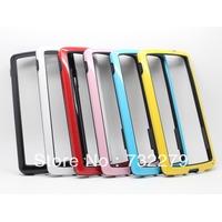 Free Shipping 6pcs/Lot Wholesale Dual-color Soft TPU Frame Bumper Case Cover for Google Nexus 5 LG E980 D820 D821 Case