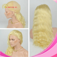 Sunnymay 6A Wholesale Virgin Malaysian Body Wave  Wholesale Human #613 Blonde Hair Weave Full Lace Wigs In Stock