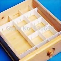 6Pcs Plastic DIY Grid Drawer Divider Household Necessities Storage Organizer  Drawer separators clapboard
