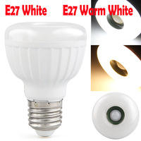 Led Lamp E27 85-260V 25 LED 3528SMD 5W Warm White White Light E27 led Infrared PIR Motion Sensor light Detector 400LM