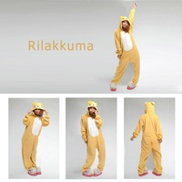 2014 Frozen Costume free Shipping Animal Romper Mens Ladies Fleece Suits Onsie Fancy Dress Costume Onesie Pajamas *easily Bear