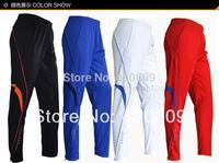 Free Ship 2014 Fashion Football Pants Men Sport Trousers Summer Soccer Training Pant Polyester Breathable Leggings 1 Pcs