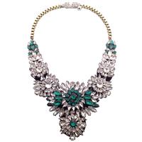 Wholesale fashion chain collar shourouk necklace Choker crystal statement necklaces pendants big Necklace for women Christmas