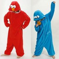 Free Shipping Animal Romper Mens Ladies Fleece Suits Onsie Fancy Dress Costume Onesie Pajamas *Sesame Street