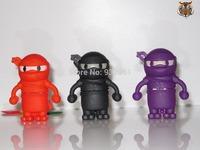 Cartoon Ninja Model USB flash drive USB2.0 Memory Stick Flash Pen Drive 8GB free shipping