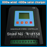 1200W LCD& MPPT Wind Solar Hybrid Charge Controller 24v 50A(800W Wind+400w Solar) Smart Electronic brake and unloading function