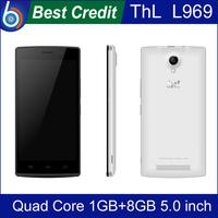 2014 New Original ThL L969 Android 4.4 1GB RAM 4GB ROM Smartphone 4G LTE MTK6582 Quad Core CPU 5.0'' inch Dual Camera 5MP/Kate