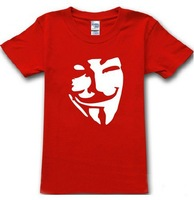 V for Vendetta Anonymous t shirt disobey 100% cotton plus size trend cool t-shirts t shirt men tshirt camisas top short sleeve